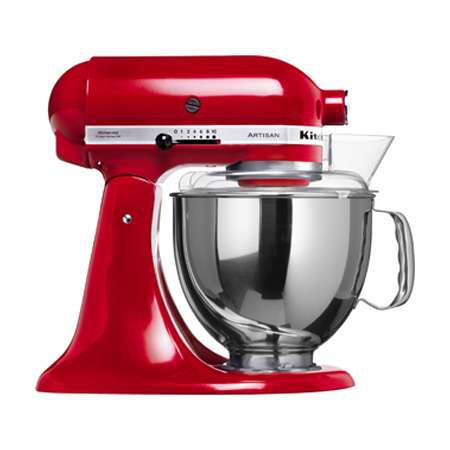 Robot Kitchenaid Artisan 5KSM150PS Blanc, Espresso, Noir, Rouge ou Chrome