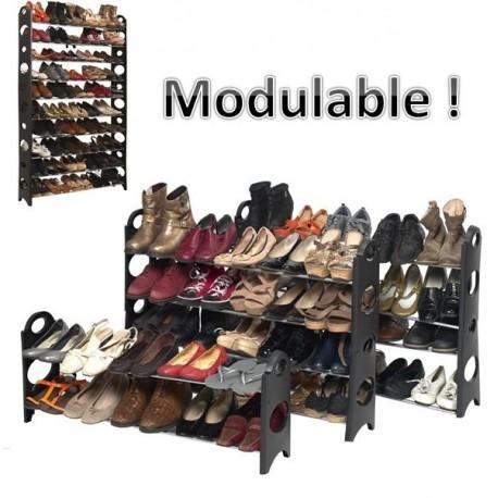 Etagère range chaussures modulable - 50 paires