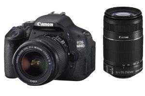 Reflex Canon EOS 600D + Objectifs EF 18-55mm IS et EF 55-250mm IS