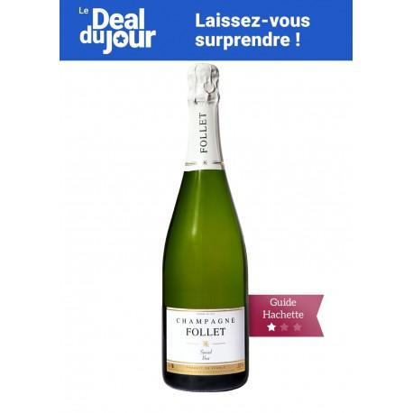 1 Bouteille de Champagne Follet spécial brut - 75 cl