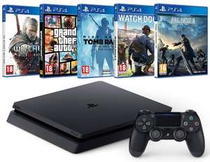 Pack Console PS4 + Final Fantasy XV + Watch Dogs 2 + Rise of the Tomb Raider + GTA V + The Witcher 3