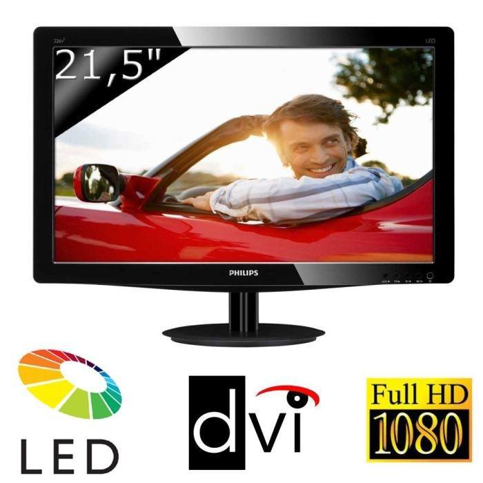 """Ecran Philips 226V4LSB 21,5"""" Full HD (DVI-D et VGA)"""