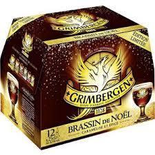 Pack de 12 bières de 25cl de Noel Grimbergen