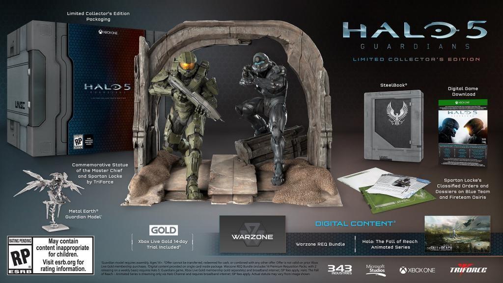 Jeu Halo 5: Guardians sur Xbox One - Edition collector limitée