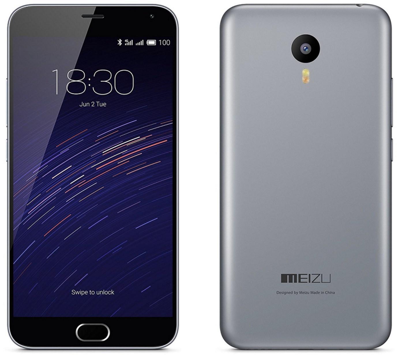 """Smartphone 5.5"""" Meizu M2 Note 2 Go de Ram, 16 Go + protection silicone + Garantie FR 1 an"""