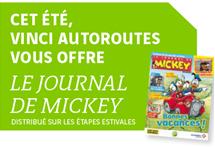 Journal de Mickey offert jusqu'au 31 août
