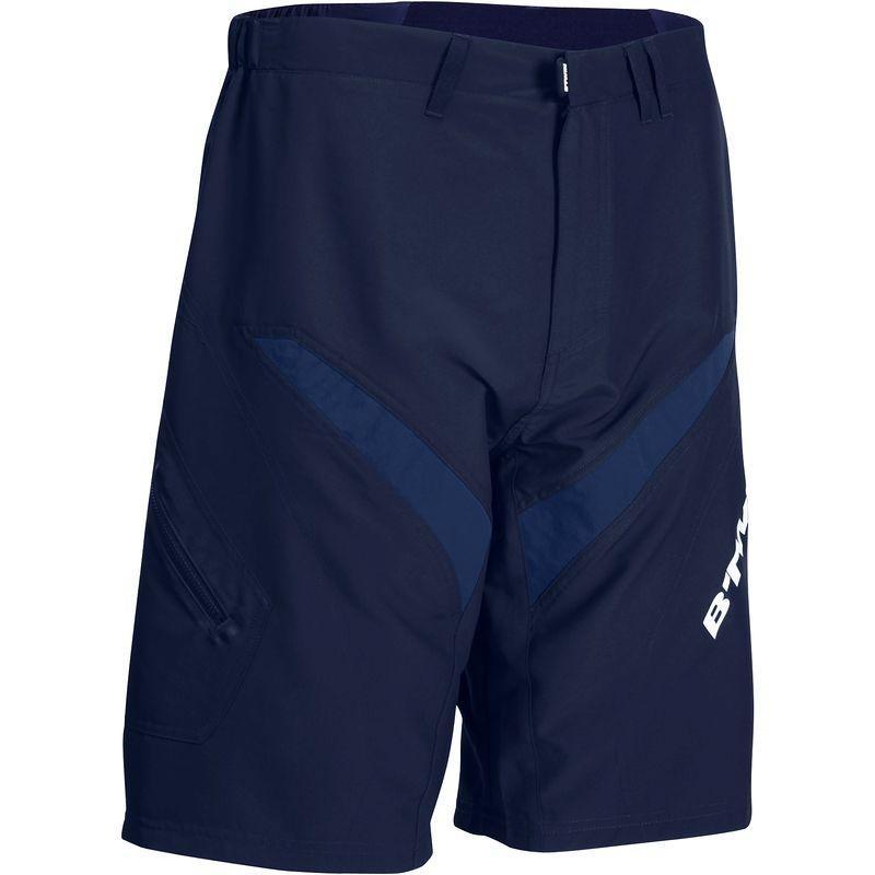 Short homme B'Twin 500 - Bleu (Taille M, L et XL)