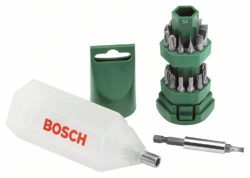 Tonnelet d'embouts de vissage Bosch - 25 pièces
