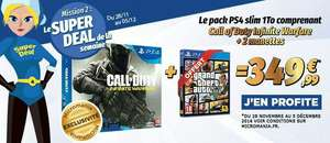 Pack Console PS4 Slim - 1To + Call of Duty : Infinte Warfare + 2ème Manette + GTA V