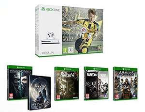 Sélection de packs Xbox One S 500Go + Jeux en promotion - Ex : Console + Fifa 17 + Dishonored 2 + Rainbow Six Siege + Assassin's Creed Syndicate + Fallout 4