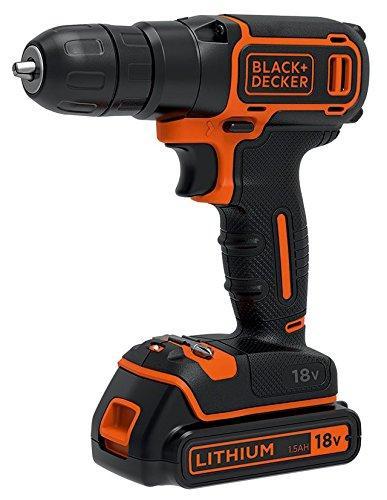 Perceuse sans fil Black + Decker BDCDC18KB-QW - 18 V + Batterie et chargeur