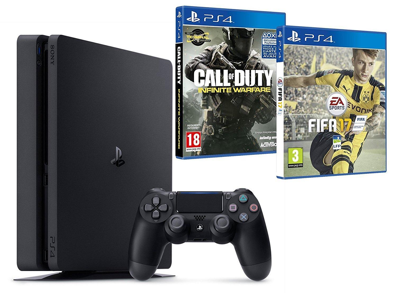 Pack Console PS4 Slim - 500 Go + Fifa 17 + Call of Duty : Infinite Warfare