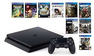 Pack Console PS4 - 500Go Slim + Sélection de 9 Jeux (Fallout 4, Rainbox Six Siege, Life is Strange, Dragonball Xenoverse 2, Far Cry 4, ...)