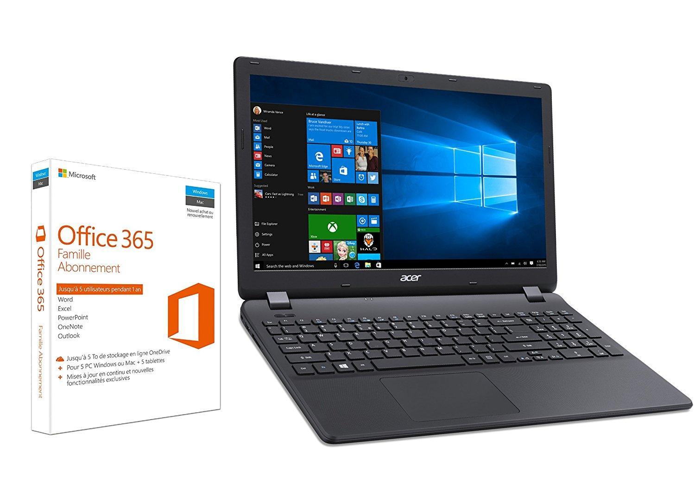 "PC Portable 15.6"" Acer Aspire ES1-531-C6PR -  1366 x 768, Celeron, RAM 4Go, 500Go, Windows 10 + Office 365 Famille 1 An"