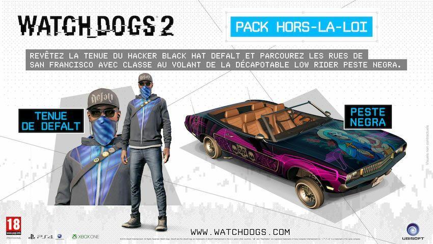 """DLC Watch Dogs 2 """"Hors la loi"""" gratuit sur PC, Xbox One et PS4"""