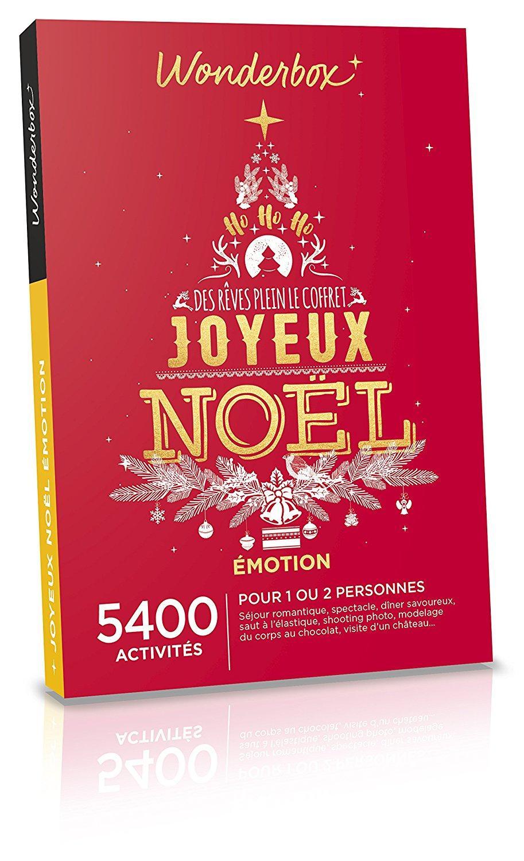 Coffret cadeau Wonderbox - Joyeux Noël Emotion pour 1 à 2 personnes