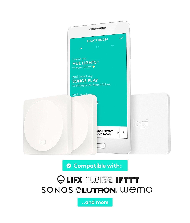 Kit de démarrage avec Interrupteur domotique Logitech POP Blanc