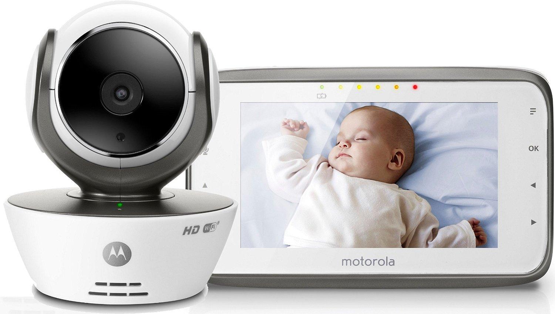 """Babyphone Vidéo Connecté Wi-Fi Motorola MBP854 Connect avec écran 4,3"""" - Blanc"""
