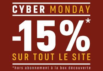 15% de réduction sur tout le site (Hors Box découverte)