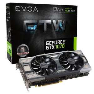 Carte graphique EVGA GeForce GTX 1070 FTW Gaming ACX 3.0 - 8 Go + Watch Dogs 2 offert