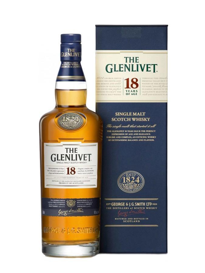 Bouteille de Whisky The Glenlivet 18 ans (avec 3.99€ sur la carte)