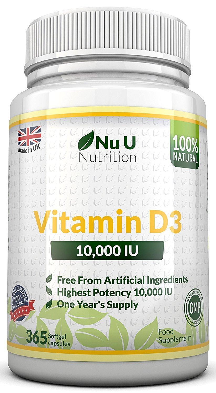 Pot de 365 gélules de vitamine D3