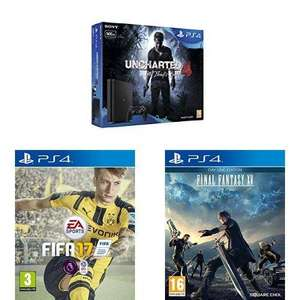 [Précommande] Pack console Sony PS4 Slim (500 Go) + FIFA 17 + Final Fantasy XV - Day One Edition + Uncharted 4: A Thief's End