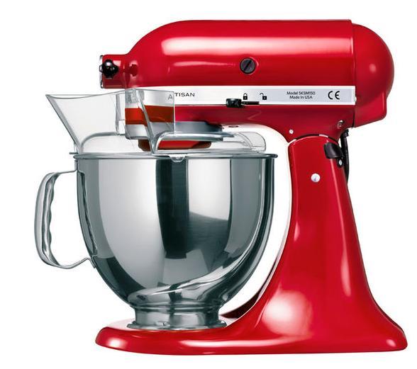 Robot Patissier Kitchenaid Artisan 5KSM150PS rouge