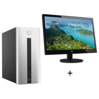 Pack HP - ordinateur Pavilion 550-192nf (A8-7600, R7, 8 Go de RAM, 2 To) + écran 22'' full HD + imprimante multifonction à jet d'encre DeskJet 2130