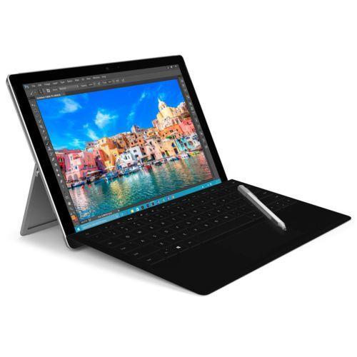 """Tablette tactile 12.3"""" Surface Pro 4 (M3-6Y30, 4 Go de RAM, 128 Go en SSD) + clavier TypeCover"""