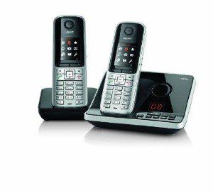 Gigaset Siemens S810A Duo Téléphone sans fil DECT avec répondeur intégré et combiné supplémentaire
