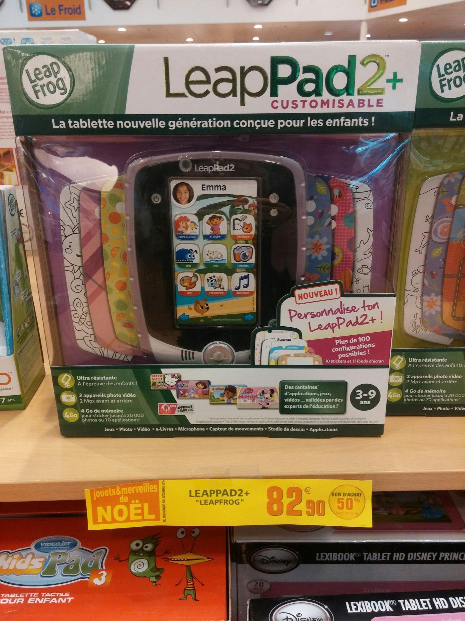 Tablette pour enfant leappad 2+ Leapfrog (via 41.45€ ticket Leclerc)