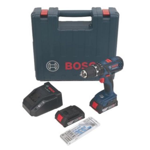 Pack perceuse-visseuse à percussion Bosch Pro GSB 1800 18V 2.0 Ah