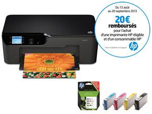 Imprimante jet d'encre multifonction WiFi HP ePrint Deskjet 3522 + Pack de 4 cartouches HP 364 (avec ODR 20€)