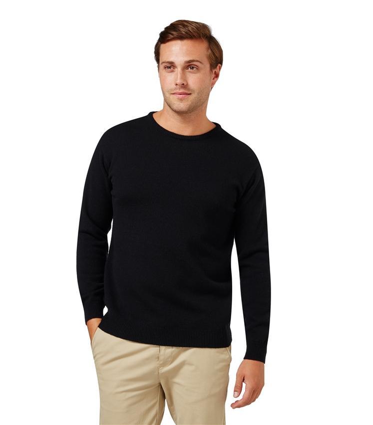 Pull Homme 100% laine d'agneau Noir ébène (taille L et XL)