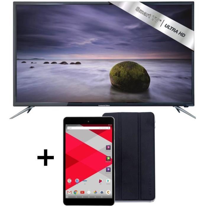 """TV 48"""" Continental Edison 48KA0816B7 Smart TV + Tablette Cdisplay 8'' 32Go + Cover Cdisplay"""