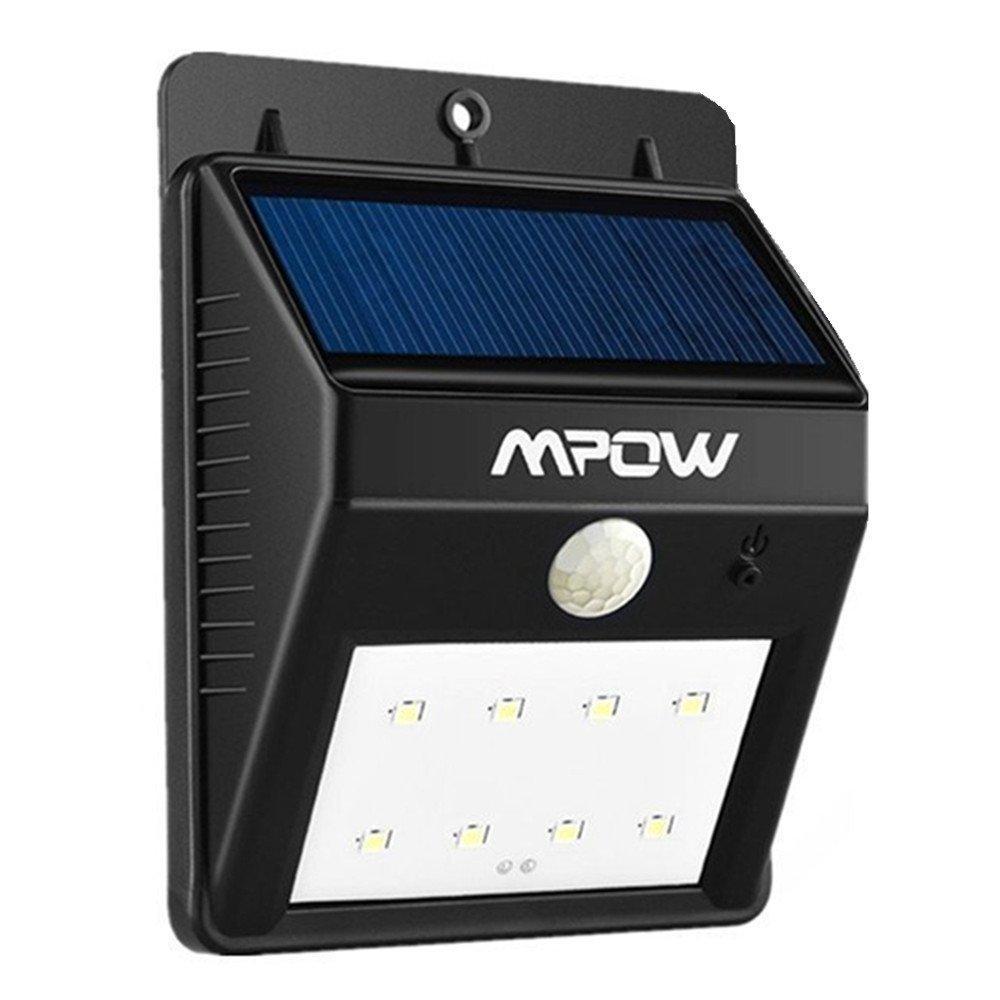 Eclairage extérieur imperméable Mpow - 8 LED, Sans Fil,  Détecteur de Mouvement