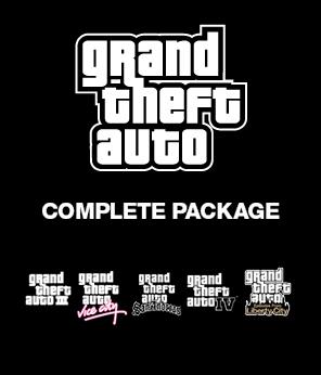 Pack Collection complète des GTA : 5 Jeux sur PC (Clés Steam)