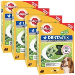 Lot de 4 paquets de friandises pour chien Pedigree Dentastix Fresh - x28 sticks