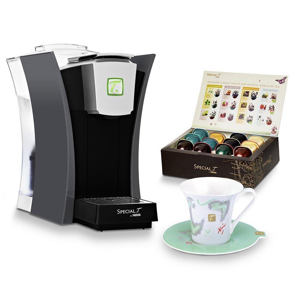 Machine à thé à capsule Special.T by Nestlé 12263845 - Gris Anthracite + Coffret dégustation + Tasse et soucoupe