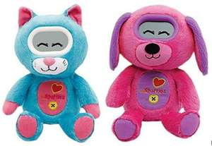 Peluche électronique Vtech Kidifluffies - Pinky (chien) ou Twisty (chat)