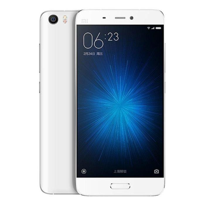 "Smartphone 5.15"" Xiaomi Mi5 Pro Blanc - Full HD, Snapdragon 820, RAM 4 Go, ROM 128 Go"