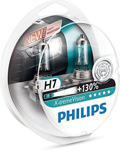 Set de 2 Ampoules de Phare Avant Philips X-tremeVision +130% H7