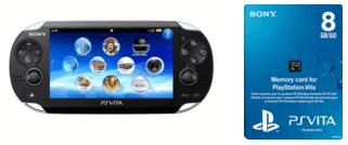 Console Sony PS Vita Wi-ifi + Carte mémoire 8 Go (Pack d'occasion)