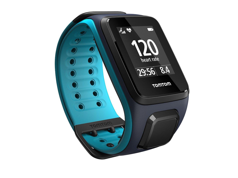 Montre connectée GPS TomTom Runner 2 Cardio + Music - Bleu Marine / Turquoise