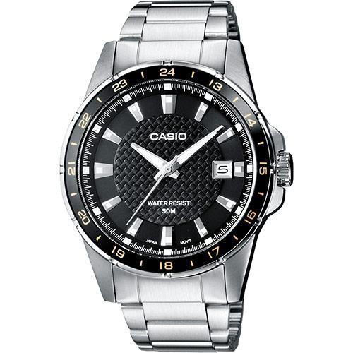 Montre analogique à Quartz Casio MTP-1290D-1A2VEF avec Bracelet Acier - Silver