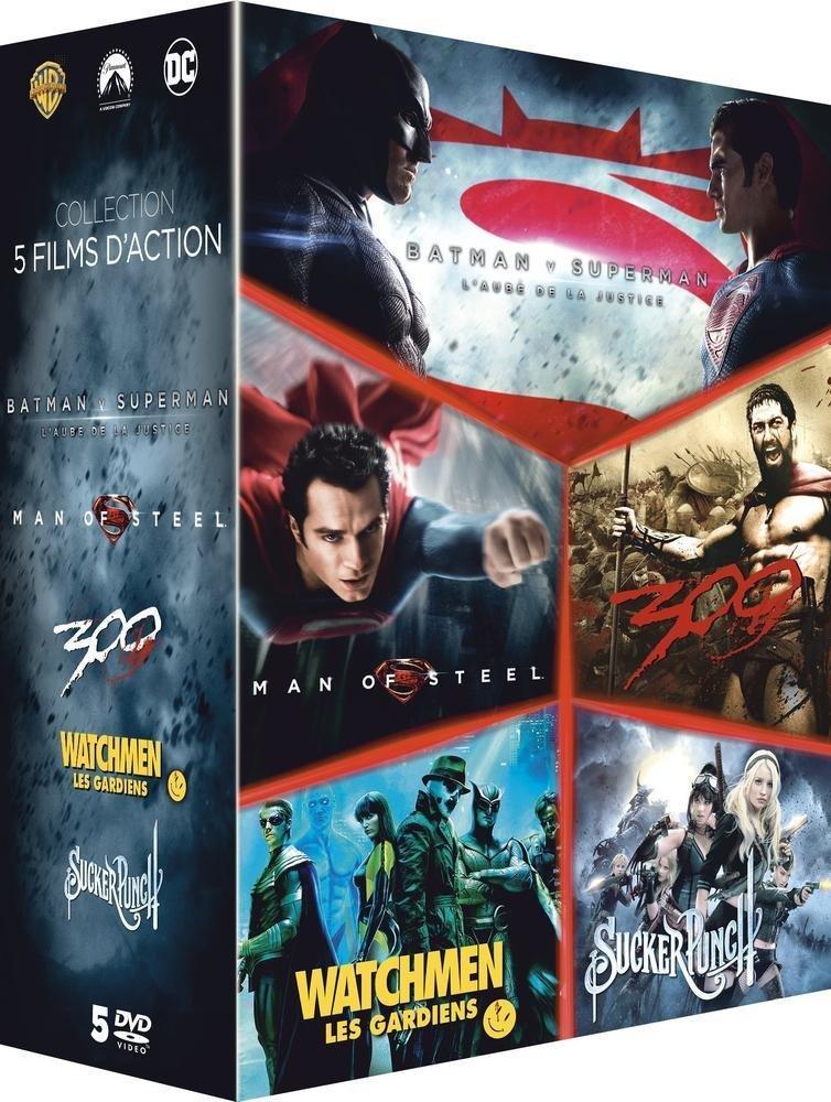 Coffret DVD Le Meilleur de Zack Snyder : Batman vs Superman, l'aube de la justice + Man of Steel + 300 + Watchmen, les Gardiens + Sucker Punch