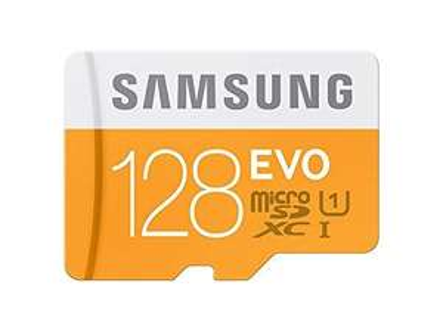 Carte microSDXC Samsung Evo Classe 10 avec Adaptateur - 128 Go