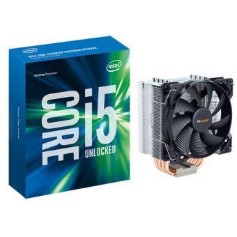 Pack processeur Intel Core i5-6600K + ventirad be quiet! Pure Rock