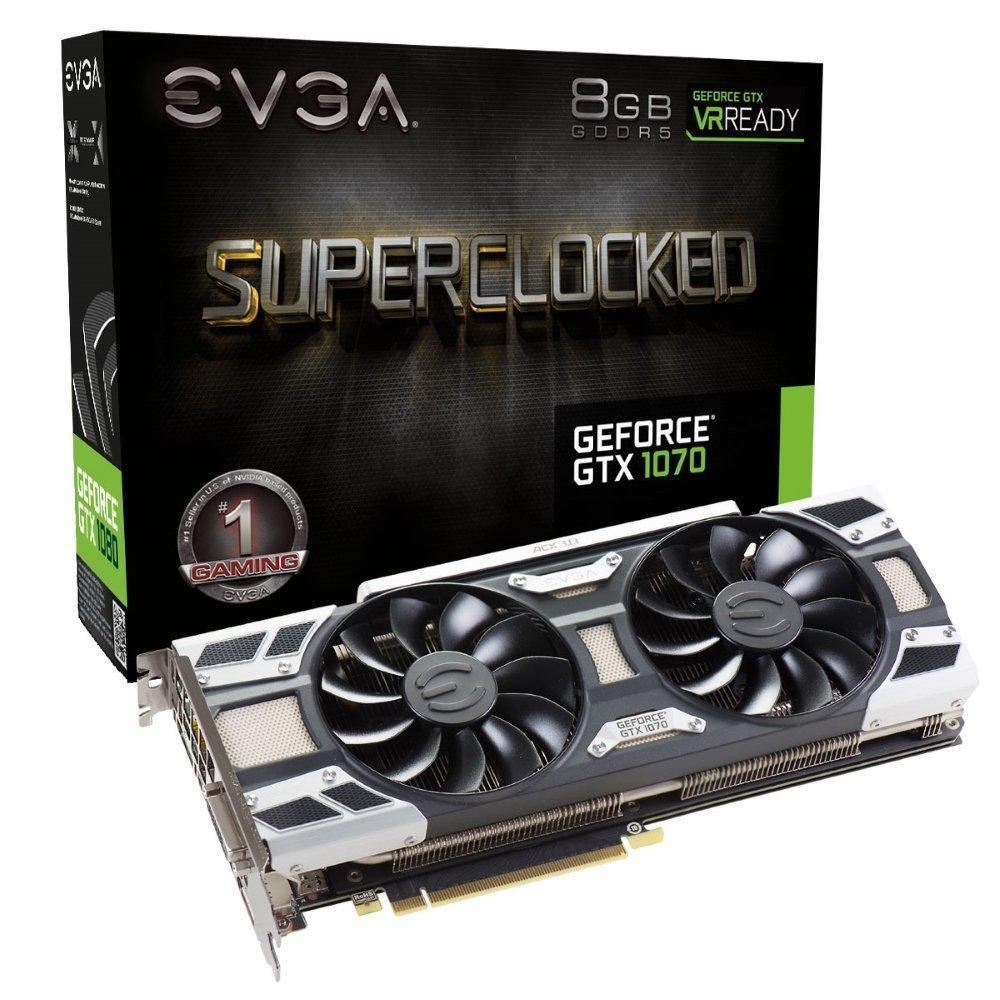 Carte Graphique EVGA GeForce GTX 1070 Superclocked - 8 Go + Watch Dog 2 offert